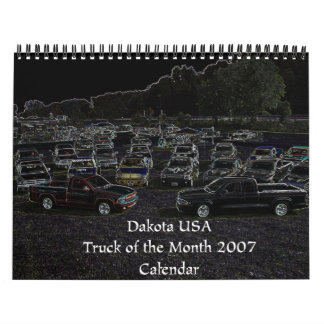 月のカレンダーのダコタ米国2007のトラック カレンダー