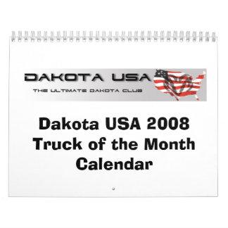 月のカレンダーのダコタ米国2008のトラック カレンダー
