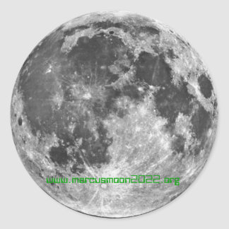 月のコロニー2022年- Marcusmoon2022.org ラウンドシール