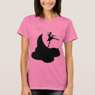 月のシルエットのバレリーナ Tシャツ