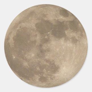 月のステッカーの満月のステッカーのおもしろいの月のギフト ラウンドシール