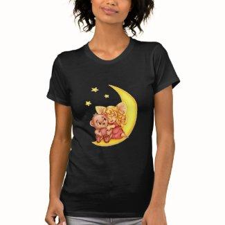 月のテディ T シャツ