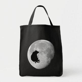 月のトートのくま トートバッグ