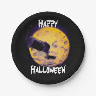 月のハロウィンの版ヴィンテージのカッコいいへの旅行 ペーパープレート