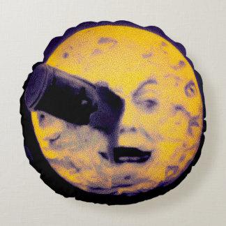月のハロウィンの版ヴィンテージのレトロへの旅行 ラウンドクッション