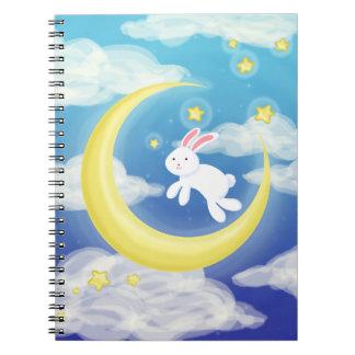 月のバニーの青 ノートブック