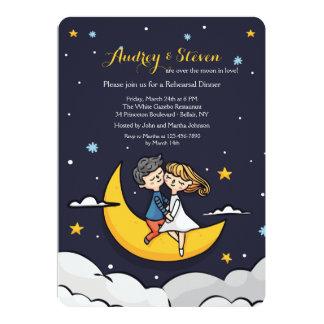 月のリハーサルの夕食の招待状に カード
