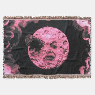 月のレトロのヴィンテージのピンクへの旅行 スローブランケット