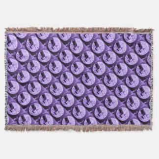 月のレトロの紫色のヴィンテージへの旅行 スローブランケット