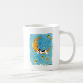 月のワイヤーフォックステリア犬 コーヒーマグカップ
