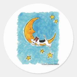 月のワイヤーフォックステリア犬 ラウンドシール