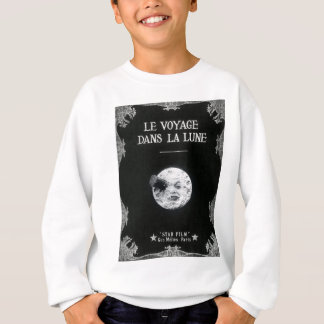 月のヴィンテージのレトロのフランスのな映画館への旅行 スウェットシャツ