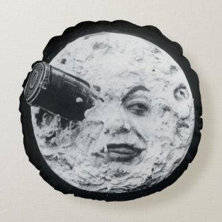月のヴィンテージの映画館への旅行 ラウンドクッション