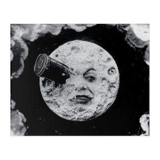 月のヴィンテージレトロのゲオルゲスMeliesへの旅行 アクリルウォールアート