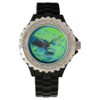 月のヴィンテージ映画火星人の緑への旅行 腕時計