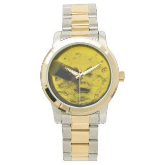 月のヴィンテージ映画金ゴールドの空への旅行 腕時計