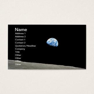 月の上に上がる惑星の地球 名刺