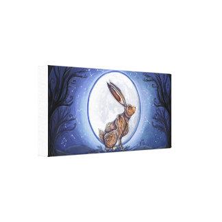 月の下のノウサギ キャンバスプリント