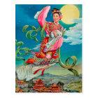 月の中国のな月の女神に飛ぶChang'eの嫦娥 ポストカード