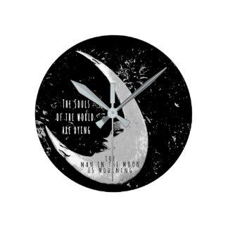 月の人 ラウンド壁時計