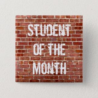 月の先生の学校ボタンの学生 5.1CM 正方形バッジ