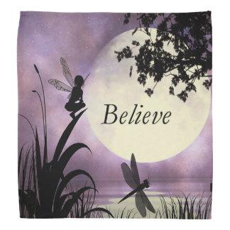 月の光の池の妖精のバンダナを信じて下さい バンダナ