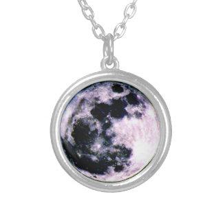 月の円形のネックレス カスタムネックレス