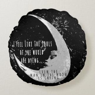 月の円形の枕の人 ラウンドクッション