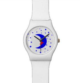 月の女性 腕時計