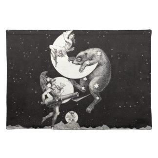 月の女神のルナ天のおおぐま座および火星 ランチョンマット