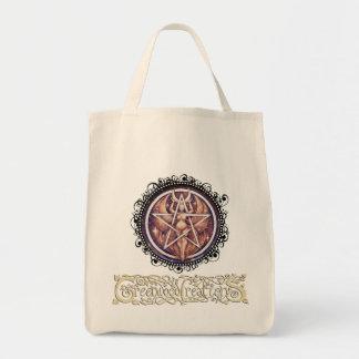 月の女神の星形五角形-ロゴの食料雑貨のトート トートバッグ