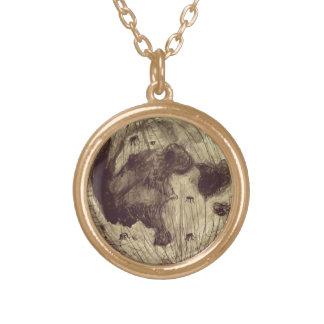 月の宇宙天文学 ゴールドプレートネックレス