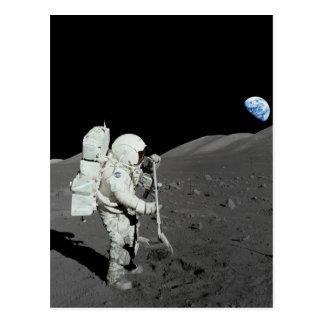 月の宇宙飛行士 ポストカード