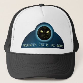 月の帽子のハロウィン猫 キャップ