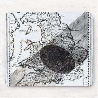 月の影の道を示す地図 マウスパッド