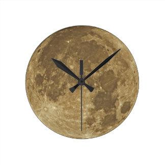 月の時計 ラウンド壁時計