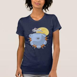 月の暗闇のワイシャツの暗黒面 Tシャツ