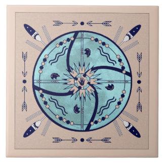 月の曼荼羅の天然記号のタイルの保護 タイル