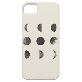 月の月の水彩画の芸術の段階 iPhone SE/5/5s ケース