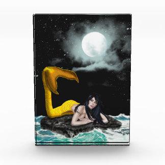 月の潮人魚のアクリル賞 表彰盾