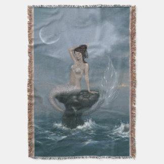 月の潮人魚のブランケット スローブランケット
