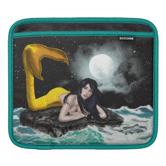 月の潮人魚の人力車のiPadの袖 iPadスリーブ