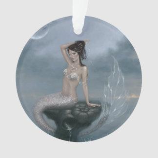 月の潮人魚の芸術の円形のオーナメント オーナメント