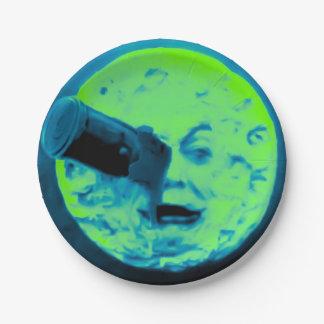 月の火星の緑の曖昧のへの旅行 ペーパープレート