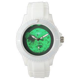 月の火星の緑の調子への旅行 腕時計