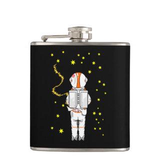 月の無重力状態のWeeingおもしろいな宇宙飛行士 フラスク