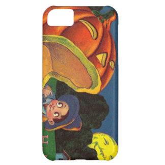 月の男の子のハロウィーンのカボチャのちょうちんの人 iPhone5Cケース