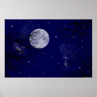 月の眺め ポスター