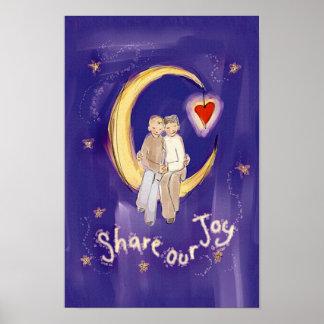 月の私達の喜びの新郎を共有して下さい ポスター