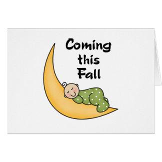 月の秋のベビー カード